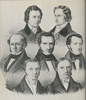 Göttingen Seven group of seven professors from Göttingen who protested against the abolition of the constitution, exiled for it (1837)