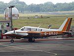 G-AVJJ Piper Twin Comanche (27060763330).jpg