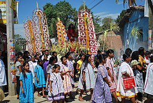 Amuzgo people - Good Friday procession in Xochislahuaca with Amuzgos in traditional dress