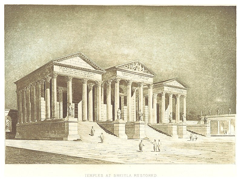 File:GRAHAM(1887) p213 TEMPLES AT SBEITLA, RESTORED.jpg