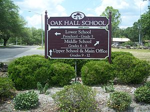 Oak Hall School - Image: Gainesville FL Oak Hall School sign 02