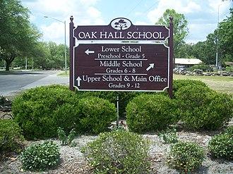 Oak Hall School - Image: Gainesville FL Oak Hall School sign 02