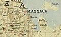 Gallica on a map of 1895 showing de Decauville railway near Massaua.jpg
