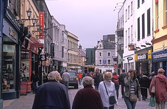 Shop Street - Shop Street, the main thoroughfare in Galway City