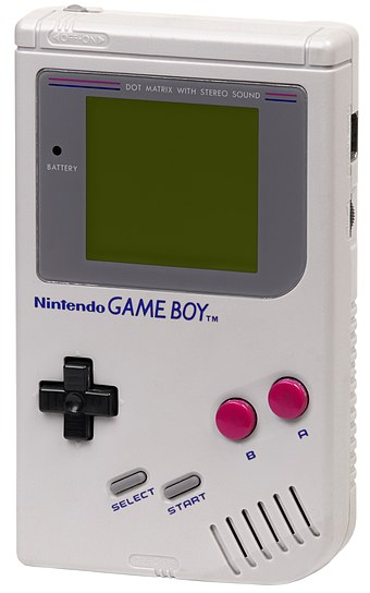 The 1989 Nintendo Game Boy, which established and dominated the handheld market for ten years. Game-Boy-Original.jpg