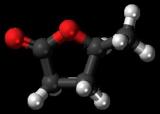 Gamma-Valerolactone - Image: Gamma Valerolactone 3D ball