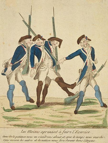 File:Garde nationale - Les moines apprenant à faire l'exercice 1790.jpg