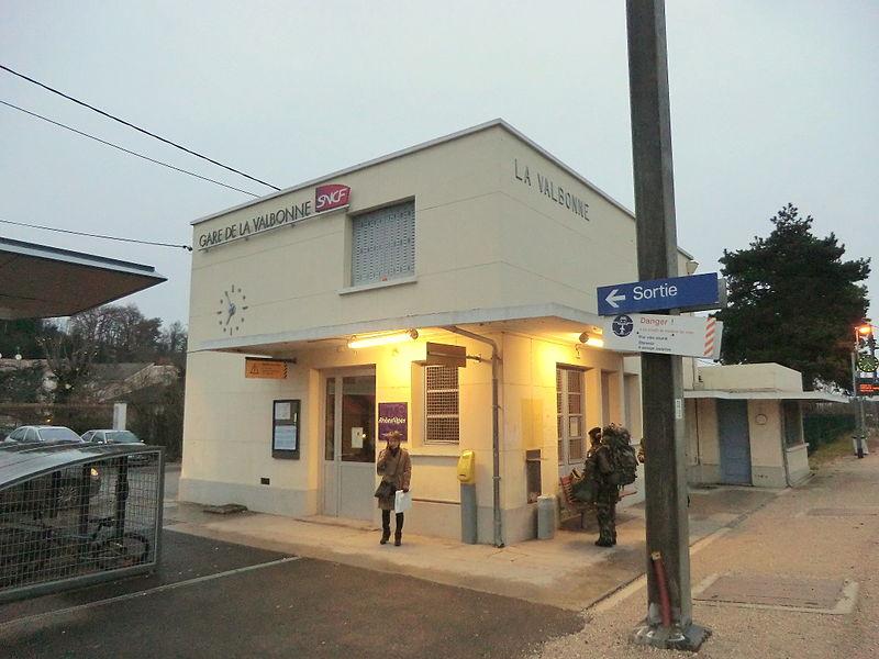 Gare de La Valbonne.