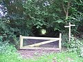 Gate, signpost and footpath. - geograph.org.uk - 517452.jpg