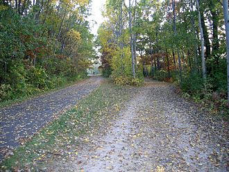 Gateway State Trail - A section of the Gateway State Trail with parallel paved and unpaved trackways