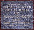 Gedenktafel Berolinastr 12 (Mitte) Verein der Lehrlinge Freie sozialistische Jugend.jpg