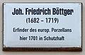 Gedenktafel Schlossstr 14-15 (Wittenberg) Joh Friedrich Böttger.jpg