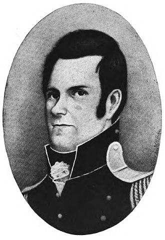 General Thomas James - Portrait drawn by Miss Martha H. Hoke found in Steven's Black Hawk War