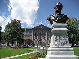 Brockville - Statue of General Isaac Brock outside the courthouse in Downtown Brockville.