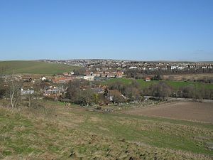 Ovingdean - View of Ovingdean from Cattle Hill