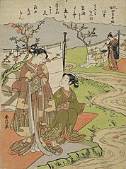 Genre Scenes Illustrating Poems of the Four Seasons: Yayoi (Third month)