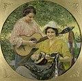 Georg Ludwig Meyn - Die Töchter des Künstlers beim Musizieren, 1914.jpg