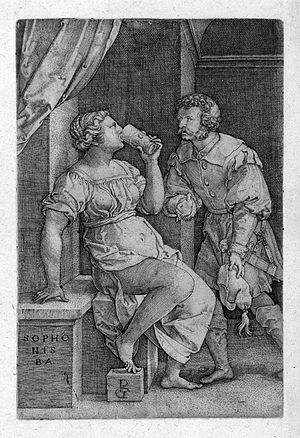 The Wonder of Women - (16th-century copperplate print by Georg Pencz)