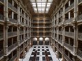 George Peabody Library, formerly the Library of the Peabody Institute of the City of Baltimore, is part of the Johns Hopkins Sheridan Libraries. Baltimore, Maryland LCCN2013646468.tif