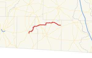 Georgia State Route 188 - Image: Georgia state route 188 map