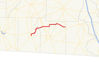 Georgia State Route 188 - Image: Georgia state route 188 map