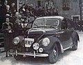 Germaine Rouault et Mme Largeot, victorieuses de la Coupe des Dames du rallye Monte-Carlo 1938, sur Matford.jpg