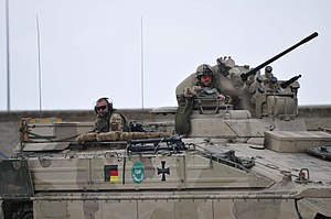 Operation Halmazag - A German Marder Infantry fighting vehicle on patrol near Kunduz