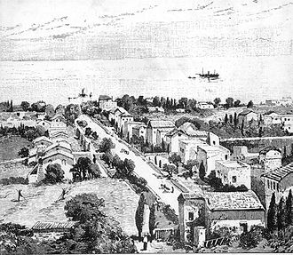 Templers (religious believers) - German colony in Haifa, 1875.