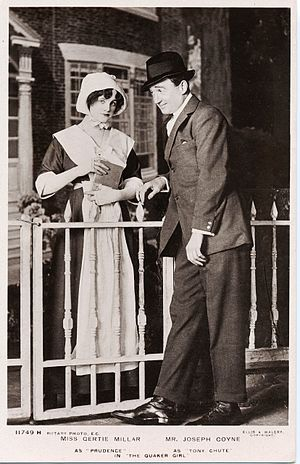 Joseph Coyne - Image: Gertie Millar as Prudence and Joseph Coyne as Tony Chute in The Quaker Girl, London, 1910