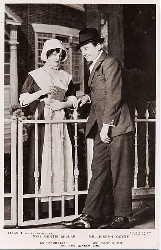 Joseph Coyne - Image: Gertie Millar as Prudence and Joseph Coyne as Tony Chute in The Quaker Girl, London, 1910