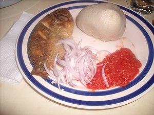 Ghanaian cuisine - Ghanaian style Banku cuisine dish