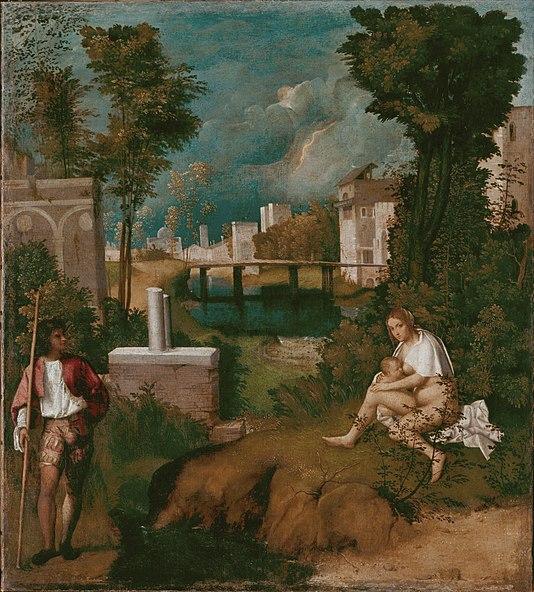 La tempestad, de Giorgione