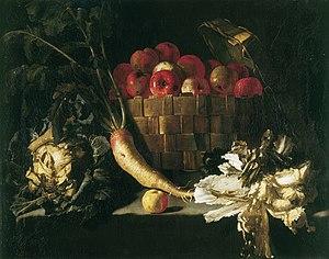 Giuseppe Recco - Still life with apples