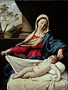 Giovanni Battista Salvi - Madona adorando al Niño dormido.JPG