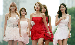 Girl group 'TAHITI' members arrive at the red carpet event of the Pifan in Bucheon on July 17, 2014.jpg