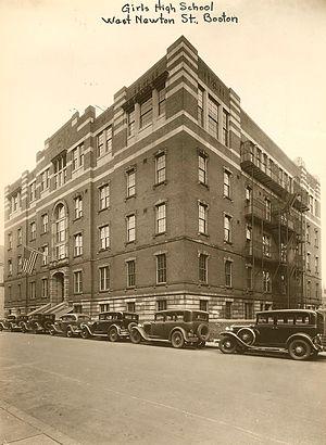 Girls' High School (Boston, Massachusetts) - External view of the high school in the 1920s