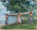 Girls Carrying a Canoe, Vaiala in Samoa MET DT11162.jpg