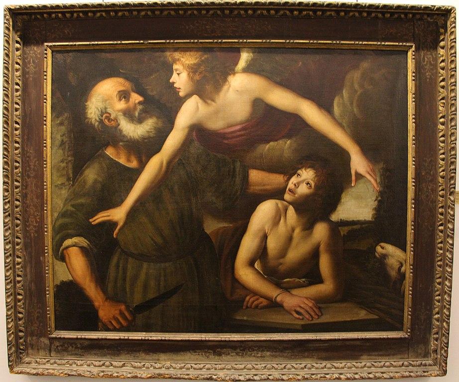 Sacrifice d'Isaac 1600-30 par Giuseppe vermiglio au Palazzo Bianco de Gênes.