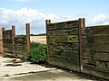 Glimpse through plank wall - geograph.org.uk - 989939.jpg