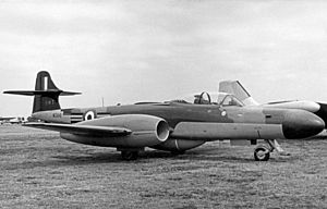 No. 264 Squadron RAF - Gloster Meteor NF.14 of 264 Squadron in 1955
