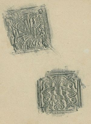 Rubbing - Rubbing of Icelandic woodcuts