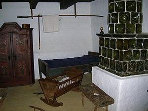 """Göcsej - Interior of an old """"Göcsej"""" house"""