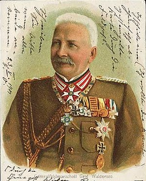 Alfred von Waldersee - Image: Graf von Waldersee Postkarte