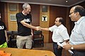 Graham Walker Shaking Hands with Anil Shrikrishna Manekar - NCSM - Kolkata 2017-06-22 2963.JPG
