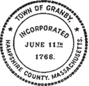 Granby, Massachusetts - Image: Granby MA Town Seal