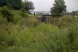 Grantham Canal - A dry lock on the canal near Cropwell Bishop
