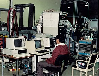 Synchrotron Radiation Center - One of the first beamlines on the Aladdin synchrotron, late 1980s