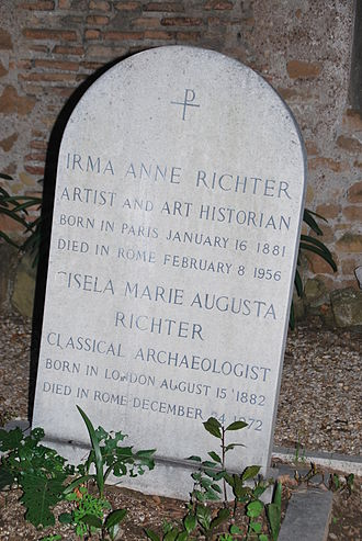 Gisela Richter - Richter's grave in the cimitero acattolico in Rome