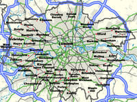 London And Suburbs Map.List Of Areas Of London Wikipedia
