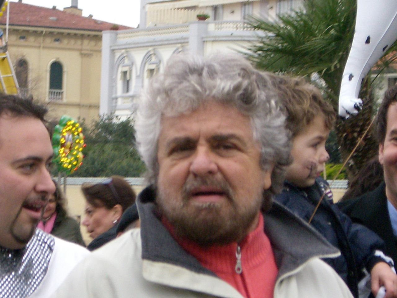Beppe Grillo, the comedian who's blocking Italian politics. Photo on Flickr by Jagen, via wikimedia.org
